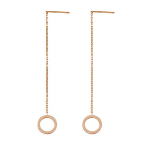 ESS642 STAINLESS STEEL EARRING WITH ROUND