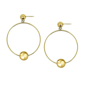 ESS676 STAINLESS STEEL EARRING WITH BALL