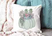 Succulent Fall Pumpkin Sketch Filled Embroidery Design - Sew What Embroidery Designs