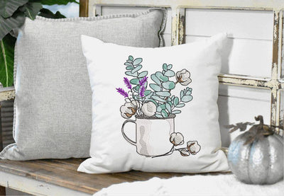 Farmhouse Cotton Filled Cup Sketch Filled Embroidery Design - Sew What Embroidery Designs