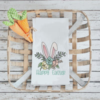Floral Bunny Ears Sketch Embroidery Design