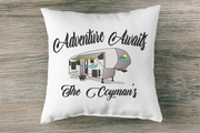 5th Wheel Camper with Adventure Awaits Embroidery Design - Sew What Embroidery Designs
