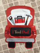 In The Hoop Red Truck 1 Tool Dad Add-On Embroidery Design (Truck Not Included)