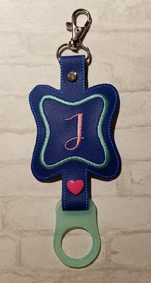 In The Hoop Initial A-Z Water Bottle Holder Embroidery Design