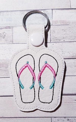 Flip Flops Key Fob Embroidery Design - Sew What Embroidery Designs