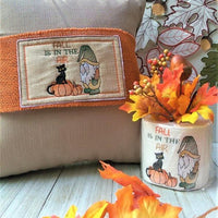 Fall Is In The Air Gnome with Pumpkins Embroidery Design - Sew What Embroidery Designs
