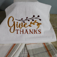 Give Thanks Embroidery Design - Sew What Embroidery Designs