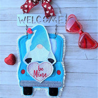 In The Hoop Red Gnome Valentine Add-On Embroidery Design (Truck Not Included) - Sew What Embroidery Designs