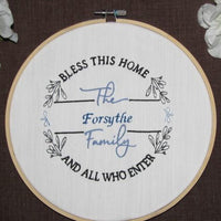 Bless This Home and All Who Enter Embroidery Design - Sew What Embroidery Designs