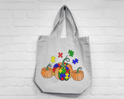 Autism Pumpkins Sketch Filled Embroidery Design - Sew What Embroidery Designs