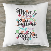 Moms/Mums Are Like Buttons They Hold It All Together Embroidery Design