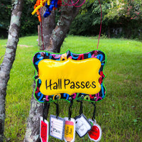 In The Hoop Class Hall Pass Hanger with Hall Passes