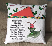 Sketch Hungry Caterpillar w/Saying Embroidery Design