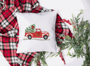Vintage Red Truck Christmas Embroidery Design