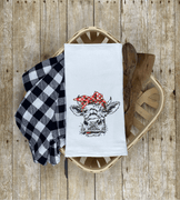 Heifer/Cow with Bandana Sketch Embroidery Design - Sew What Embroidery Designs