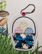 Applique Easter Basket Key Fob Embroidery Design - Sew What Embroidery Designs
