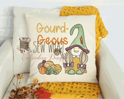 Gourd-Geous Fall Gnome Sketch Filled Embroidery Design (face and hand is not filled) - Sew What Embroidery Designs