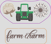 In The Hoop Red Truck Farm Charm Add-On Embroidery Design (Truck Not Included)