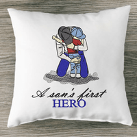 Father and Son Hero Embroidery Design - Sew What Embroidery Designs