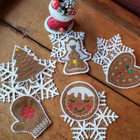 In The Hoop Ginger Christmas Cookie Embroidery Design (set 5) - Sew What Embroidery Designs