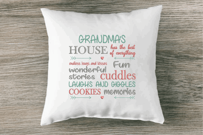 Grandma's House is Laughs and Cuddles Embroidery Design - Sew What Embroidery Designs
