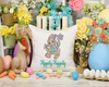 Sketch Happy Spring Easter Bunny Embroidery Design