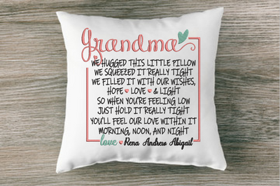 We Hugged This Pillow Tight (Name Variation see description) Embroidery Design