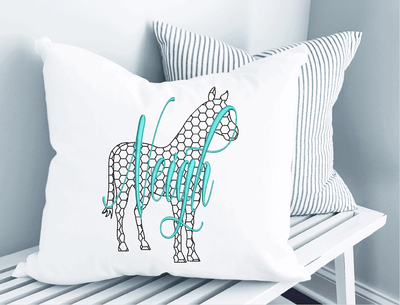 Horse Chicken Wire Embroidery Design - Sew What Embroidery Designs