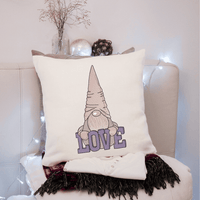 Gnome Love Sketch Filled Embroidery Design - Sew What Embroidery Designs
