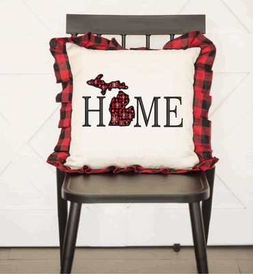 Michigan Home Applique Embroidery Design