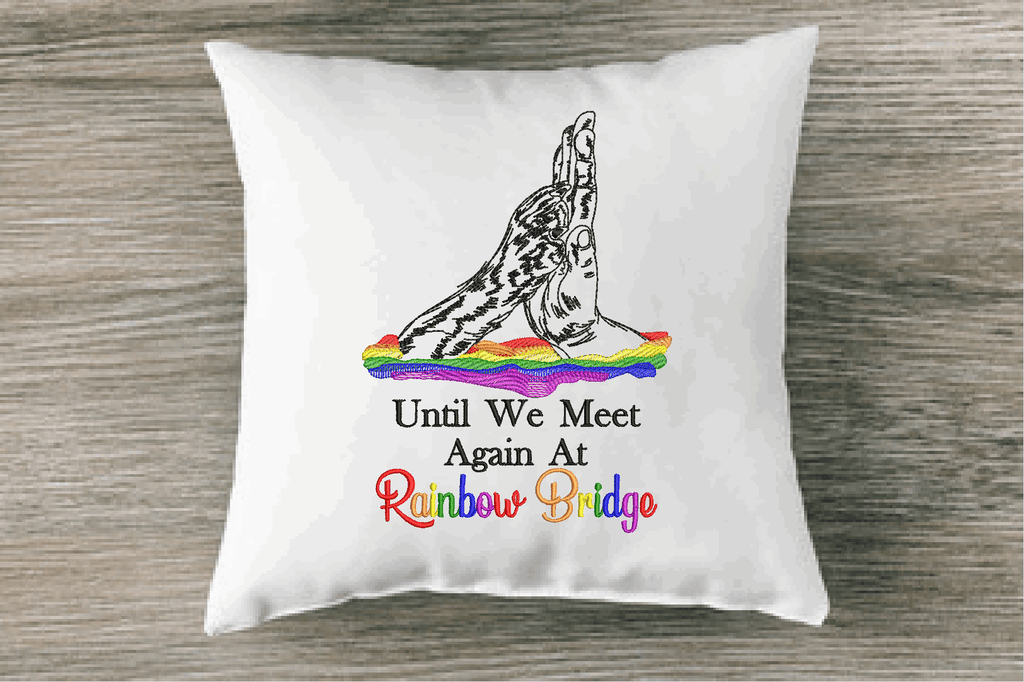 Meet You At Rainbow Bridge Sketch Embroidery Design - Sew What Embroidery Designs