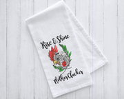 Rise and Shine Mother Clucker Farmhouse Embroidery Design (sketch watercolor fill)