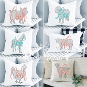 Set of Farm Chicken Wire Farm Animals Embroidery Design (Individual Files)