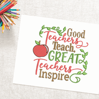 Great Teachers Inspire Embroidery Design - Sew What Embroidery Designs