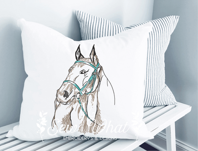 Sketched Horse Embroidery Design