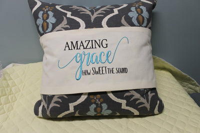 Amazing Grace How Sweet The Sound Embroidery Design - Sew What Embroidery Designs