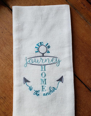 Life Is A Journey Home Is The Anchor Embroidery Design - Sew What Embroidery Designs