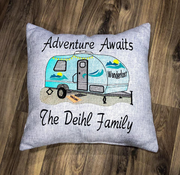 Rv, Travel Trailer Adventure Awaits Embroidery Design