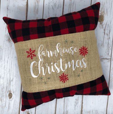 Farmhouse Christmas Embroidery Design - Sew What Embroidery Designs