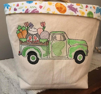 Easter Sketch Vintage Truck Embroidery Design - Sew What Embroidery Designs