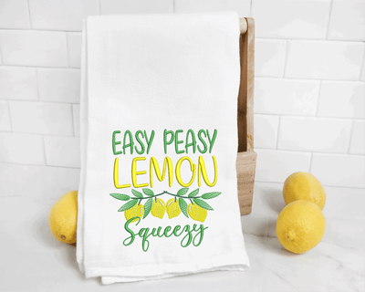 Easy Peasy Lemon Squeezy Sketch Filled Embroidery Design - Sew What Embroidery Designs
