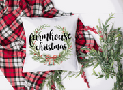 Farmhouse Christmas Wreath Sublimation Design - Sew What Embroidery Designs