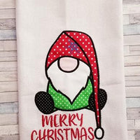 Merry Christmas Gnome Applique Embroidery Design - Sew What Embroidery Designs