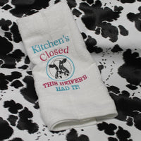 Kitchen's Closed This Heifers Had It Embroidery Design