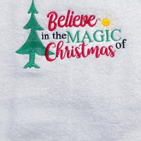 Believe in the Magic of Christmas Embroidery Design