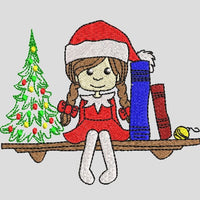 Christmas Girl Elf Embroidery Design