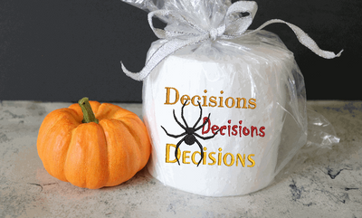 Spider Decisions Toilet Paper Embroidery Design