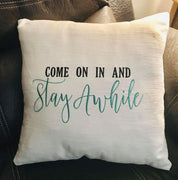 Come On In And Stay Awhile Embroidery Design - Sew What Embroidery Designs