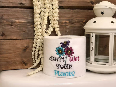 Don't Wet Your Plants Watercolor/sketch Embroidery Design - Sew What Embroidery Designs