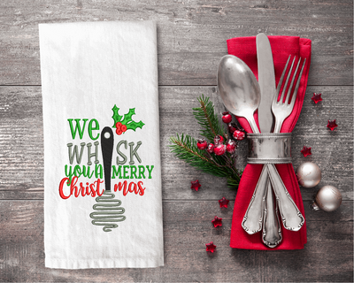 We Whisk You A Merry Christmas Embroidery Design